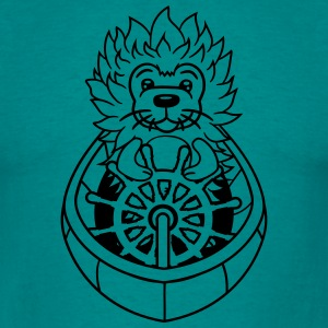 hedgehog sailor captain ship boating sailing sea s T-Shirts - Men's T-Shirt