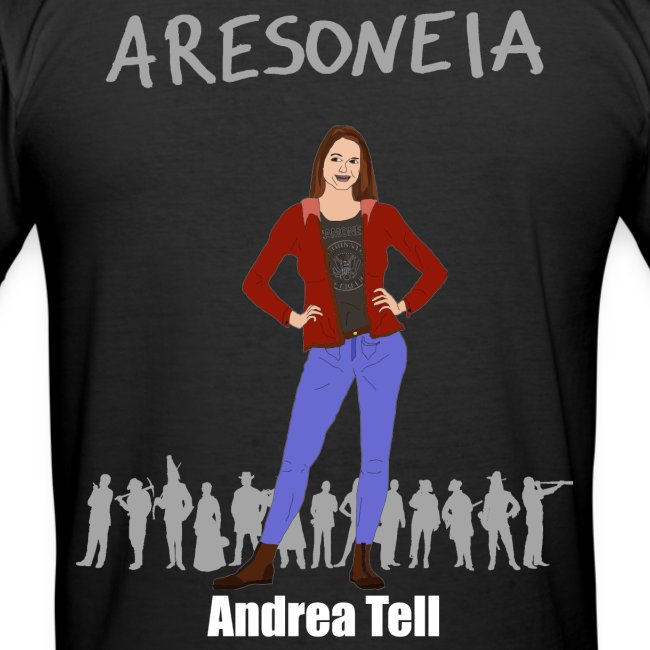 Aresoneia-Tell (Weiß) - Herren-Slim-Fit-Shirt