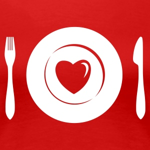 Love Dinner - Eat Heart 1c T-Shirts - Frauen Premium T-Shirt