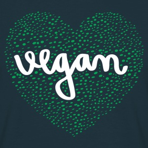 Vegan Heart T-skjorter - T-skjorte for menn