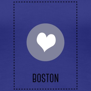 I Love Boston T-shirts - Dame premium T-shirt