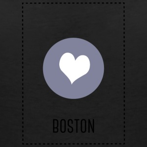 I Love Boston T-skjorter - T-skjorte med V-utsnitt for kvinner