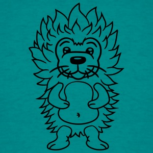 haired little sweet cute hedgehog comic cartoon T-Shirts - Men's T-Shirt