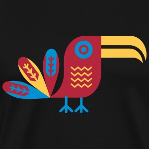 Toucan, bird, birdy, color, colorful, jungle T-Shirts - Men's Premium T-Shirt
