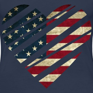 USA Heart T-Shirts - Frauen Premium T-Shirt