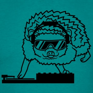 dj party mischpult disco sunglasses cool headphone T-Shirts - Men's T-Shirt
