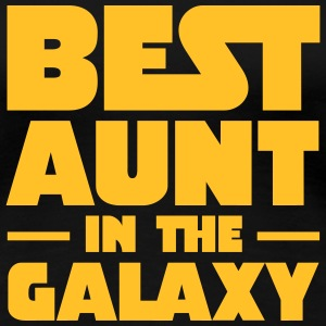 Best Aunt In The Galaxy Camisetas - Camiseta premium mujer