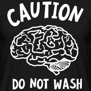 Caution - Do Not Wash (Brain) T-shirts - T-shirt herr