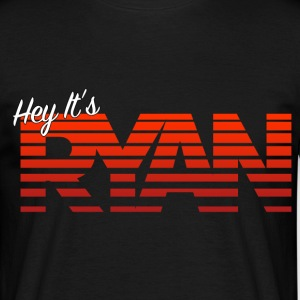 Hey It's Ryan! Red Fade - Men's T-Shirt