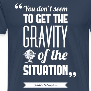 Newton's gravity | T-shirt ♂ - Men's Premium T-Shirt