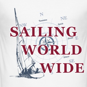 SAILING WORLDWIDE 3 T-Shirts - Männer Slim Fit T-Shirt