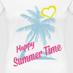 HAPPY SUMMER TIME T-Shirts - Frauen Premium T-Shirt