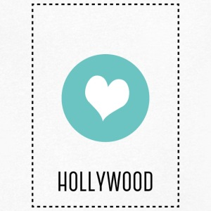 I Love Hollywood T-shirts - Herre T-shirt med V-udskæring