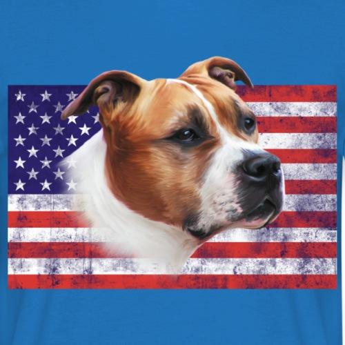 AmStaff USA grunge Flag