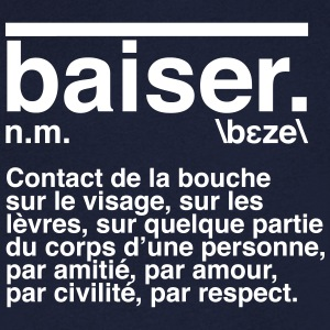Définition baiser Tee shirts - T-shirt Homme col V