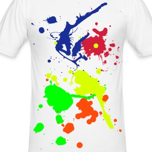 Splash Shirt - Männer Slim Fit T-Shirt