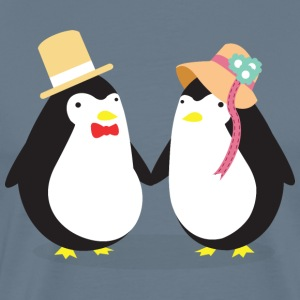 Penguine Couple T-Shirts - Männer Premium T-Shirt