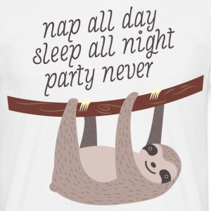 Nap All Day, Sleep All Night, Party Never T-shirts - T-shirt herr