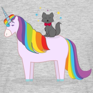 Unicorn With Magic Cat Tee shirts - T-shirt Homme