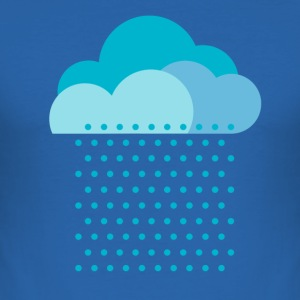 We love rain! weather, cloud, autumn, bike T-shirts - slim fit T-shirt