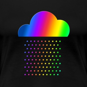 Colorful Weather - We love rain! rainbow cloud gay T-shirts - Dame premium T-shirt