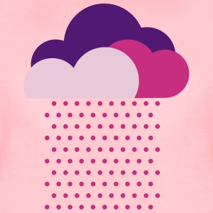 Purple clouds - colorful weather, rain, raindrops Tee shirts - T-shirt Premium Femme