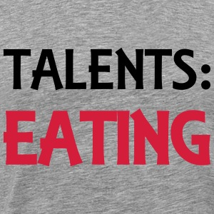Talents: Eating T-shirts - Mannen Premium T-shirt
