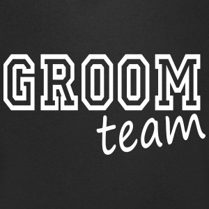 groom team i T-skjorter - T-skjorte med V-utsnitt for menn