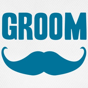 groom mustache Caps & Hats - Baseball Cap