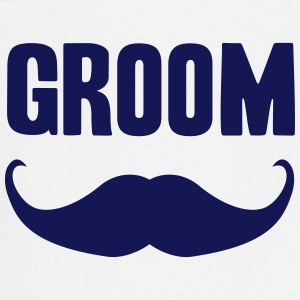 groom mustache  Aprons - Cooking Apron
