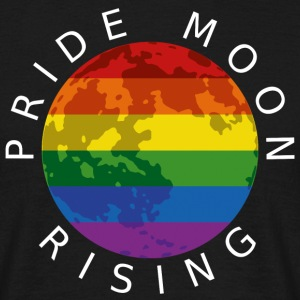 Pride Moon Rising - White T-Shirts - Men's T-Shirt