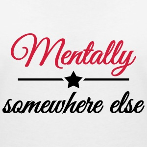 Mentally somewhere else T-skjorter - T-skjorte med V-utsnitt for kvinner