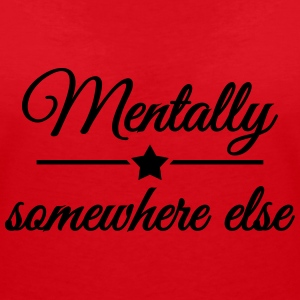 Mentally somewhere else T-Shirts - Frauen T-Shirt mit V-Ausschnitt