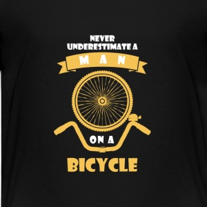 NEVER UNDERESTIMATE A MAN WITH BICYCLE! Shirts - Teenage Premium T-Shirt