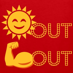 Sun's Out, Gun's Out Vest (RED) - Men's Premium Tank Top