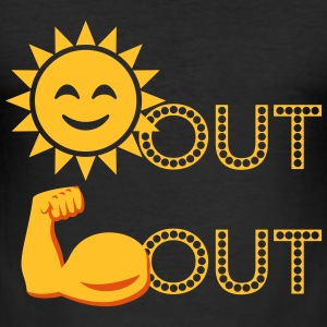 Suns Out, Guns Out EmojI T-Shirts - Men's Slim Fit T-Shirt