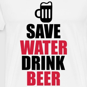 T-shirt save water drink beer - Herre premium T-shirt