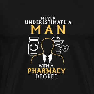UNDERESTIMATE NEVER N MAN WITH NEM TASKS COMPLETION T-Shirts - Men's Premium T-Shirt