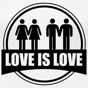 Love is love LESBIAN - Frauen Premium T-Shirt