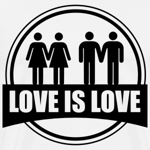 Love is love GAY - Camiseta premium hombre