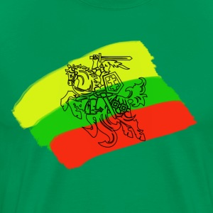 Lithuanian flag with rider - Men's Premium T-Shirt