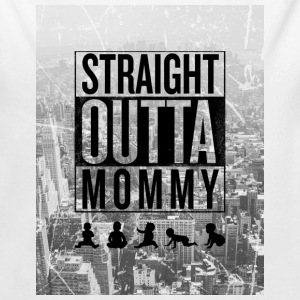 straight outta mommy Baby Bodys - Baby Bio-Langarm-Body