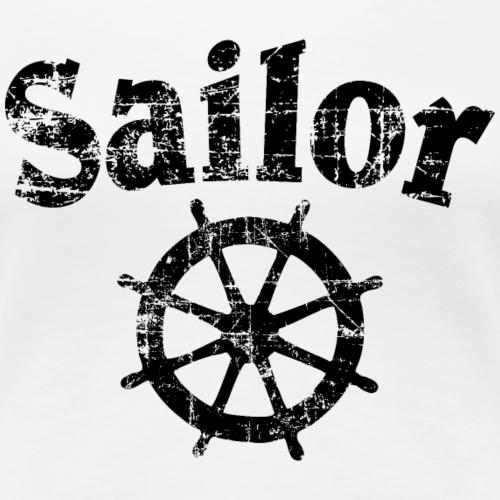Sailor Steuer Vintage Steuerrad Segel Schwarz