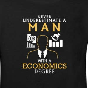 UNDERESTIMATE NEVER N MAN WITH NEM ECONOMICS FINAL! Shirts - Kids' Organic T-shirt