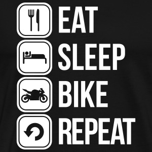 eat sleep bike repeat T-Shirts - Men's Premium T-Shirt