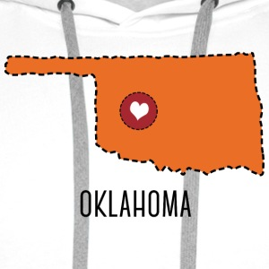 Oklahoma State Herz Sweat-shirts - Sweat-shirt à capuche Premium pour hommes