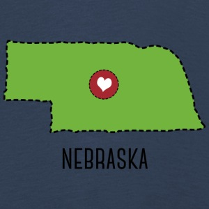 Nebraska State Herz Long Sleeve Shirts - Kids' Premium Longsleeve Shirt