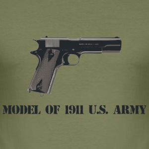 1911 pistol - Men's Slim Fit T-Shirt