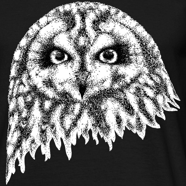 Ne14 Design Short Eared Owl Face T Shirt Mens Mens T Shirt