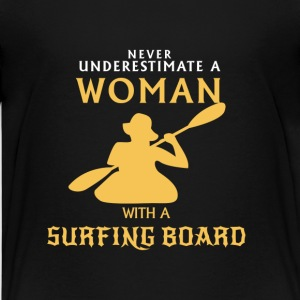 NEVER UNDERESTIMATE A MAN WITH SURFBOARD! Shirts - Teenage Premium T-Shirt